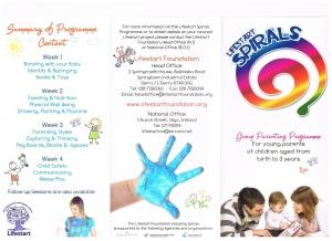 Spirals brochure front
