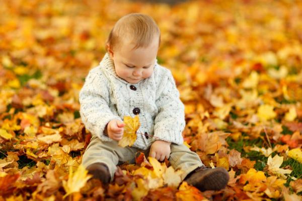 Sensory play at autumn time
